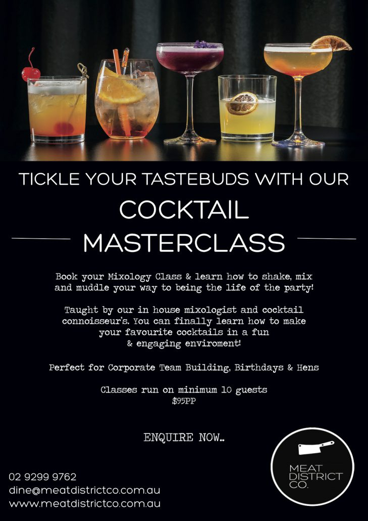 Meat District Co. Cocktail Masterclass