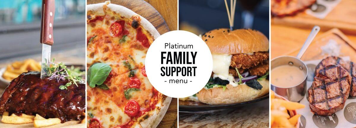 Platinum Family Support Menu